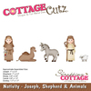 "Joseph, Shepherd & Animals .6"" To 2.3"" - CottageCutz Dies"