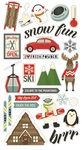 Sub Zero Chipboard Stickers - Simple Stories