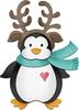 """Reindeer Penguin 1.7"""" To 2.5"""" - CottageCutz Dies"""