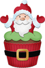 "Santa Cupcake 1.7""X2.5"" - CottageCutz Dies"