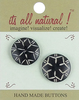 Blooming Flower 1  2/Pkg - Handmade Bone Buttons Embellish clothing or purses or use in craft projects where a beautiful focal point is needed. This 3x3.75 inch package contains two buttons. WARNING: Choking Hazard. Not suitable for children under 3 years. Imported.