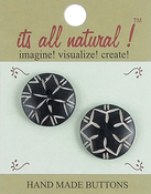 "Blooming Flower 1"" 2/Pkg - Handmade Bone Buttons"