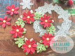 Poinsettia Wreath - La-La Land Die