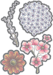 Blooms & Leaves - Elizabeth Craft Metal Die