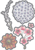 Blooms & Leaves - Elizabeth Craft Metal Die