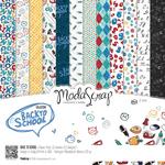 "Back To School - Elizabeth Craft ModaScrap Paper Pack 12""X12"" 12/Pkg"