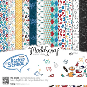 "Back To School - Elizabeth Craft ModaScrap Paper Pack 12""X12"" 12/Pkg"