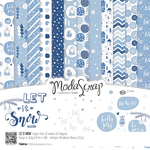 "Let It Snow - Elizabeth Craft ModaScrap Paper Pack 12""X12"" 12/Pkg"