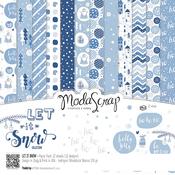 """Let It Snow - Elizabeth Craft ModaScrap Paper Pack 12""""X12"""" 12/Pkg"""