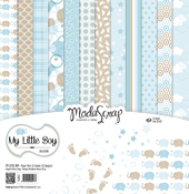 "My Little Boy - Elizabeth Craft ModaScrap Paper Pack 12""X12"" 12/Pkg"