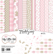 "My Little Girl - Elizabeth Craft ModaScrap Paper Pack 12""X12"" 12/Pkg"