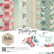 "Relax In The Garden - Elizabeth Craft ModaScrap Paper Pack 12""X12"" 12/Pkg"