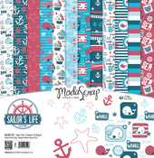"Sailor's Life - Elizabeth Craft ModaScrap Paper Pack 12""X12"" 12/Pkg"