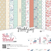 "Sea World - Elizabeth Craft ModaScrap Paper Pack 12""X12"" 12/Pkg"