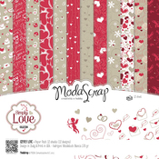 "Simply Love - Elizabeth Craft ModaScrap Paper Pack 12""X12"" 12/Pkg"