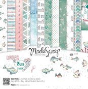 "Under The Sea - Elizabeth Craft ModaScrap Paper Pack 12""X12"" 12/Pkg"