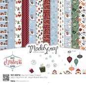 "White Christmas - Elizabeth Craft ModaScrap Paper Pack 12""X12"" 12/Pkg"