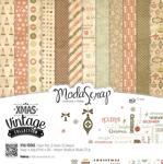 "Xmas Vintage Collection - Elizabeth Craft ModaScrap Paper Pack 12""X12"" 12/Pkg"