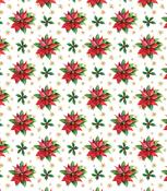 "Christmas - Classic Poinsettia - Craft Consortium Decoupage Papers 13.75""X15.75"" 3/Pkg"