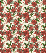 """Christmas - Traditional Poinsettia - Craft Consortium Decoupage Papers 13.75""""X15.75"""" 3/Pkg"""