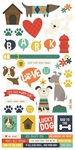 Life Is Ruff Sticker Sheet - Simple Stories
