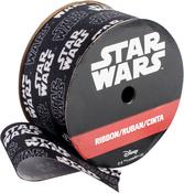 "Black & White - Star Wars Ribbon 1-1/2""X9'"