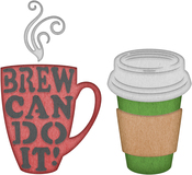 "Brew Can Do It .86"" To 2.29"" - Cheery Lynn Designs Die"