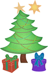 "Sparkle Christmas Tree .43"" To 2.69"" - Cheery Lynn Designs Die"