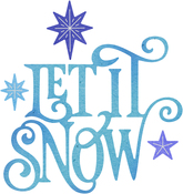 "Let It Snow .52"" To 3.23"" - Cheery Lynn Designs Die"
