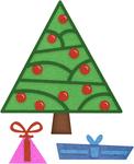 """Deco Christmas Tree .48"""" To 2.80"""" - Cheery Lynn Designs Die"""