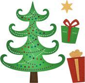 """Twinkle Christmas Tree .30"""" To 2.54"""" - Cheery Lynn Designs Die"""