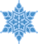 "Snowflake 1 2.02"" To 2.48"" - Cheery Lynn Designs Cut & Emboss Die"