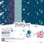 "Love You To The Moon And Back - Elizabeth Craft ModaScrap Paper Pack 12""X12"" 12/Pkg"