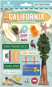 "Travel California - Paper House 2-D Stickers 7.5""x4.5"""