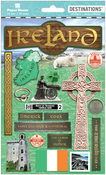 "Travel Ireland - Paper House 2-D Stickers 7.5""x4.5"""