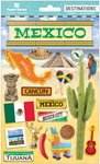 "Travel Mexico - Paper House 2-D Stickers 7.5""x4.5"""
