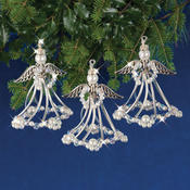Silver Angels Makes 3 - Holiday Beaded Ornament Kit