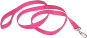 "Neon Pink - 1"" Single-Ply Nylon 6' Training Dog Leash"