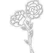 """Blooming Flowers, 2.3""""X3.8"""" - Penny Black Creative Dies"""