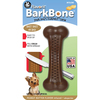 Small - Flavorit BarkBone With Peanut Butter Flavor Richly flavor infused nylon bone with tiny treat cells molded in both sides. The treat cells can be filled with peanut butter, cheese, cream cheese or any other spreadable treat. The bone encourages healthy chewing while it massages the gums and cleans the teeth. Dishwasher safe. This package contains one 1.5x4.25 inch bone. Made in USA.