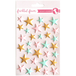 Matte Pink, Mint & Gold Stars - Freckled Fawn Puffy Stickers