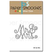 """Mr & Mrs 3""""X2"""" - Paper Smooches Dies"""