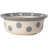 Gray - PetRageous Designs Polka Paws Bowl - Holds 2 Cups Hand-crafted stoneware bowl holds 2 cups. Dishwasher and microwave safe. This package contains one 5.75x5.75x2.25 inch bowl. Imported.