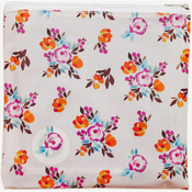 """Painted Floral - Freckled Fawn Printed Clear Plastic Zippered Pouch 8""""X8"""""""