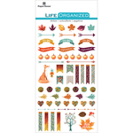 "Autumn Woods - Paper House Life Organized Epoxy Stickers 6.5""X3.5"""