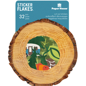 Outdoors - Paper House Sticker Flakes Cut Out Stickers 32/Pkg
