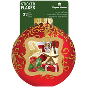 Christmas - Paper House Sticker Flakes Cut Out Stickers 32/Pkg