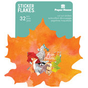 Autumn Woods - Paper House Sticker Flakes Cut Out Stickers 32/Pkg