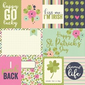 3 x 4 & 4 x 6 Journaling Card Paper - St Patricks Day - Simple Stories
