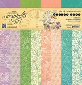 Fairie Dust Patterns & Solids 12 x 12 Paper Pad - Graphic 45